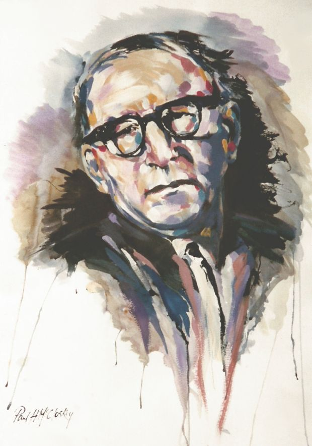 Artist Paul McCloskey's cover image of Patrick Kavanagh