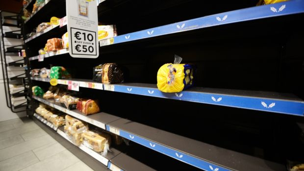 The Beast from the East prompted a run on bread supplies across Ireland. Photograph: Cyril Byrne / The Irish Times