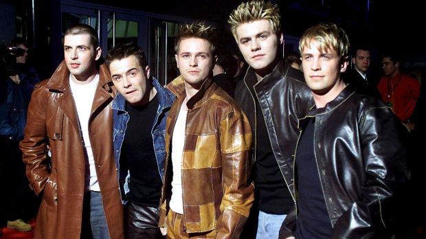 What makes a man: Westlife lost out on the 2000 Christmas no 1 to Bob the Builder. Photograph: Reuters/Kieran Doherty