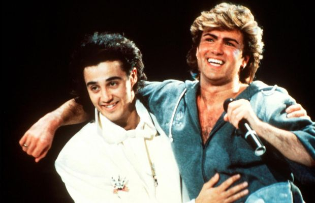 Andrew Ridgeley and George Michael of Wham. Photograph: Michael Putland/Getty Images