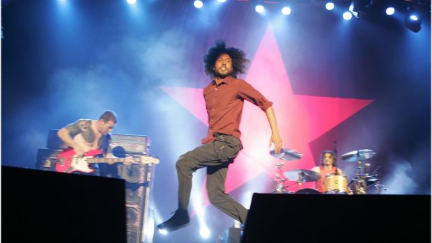 Rage Against the Machine's 'Killing in the Name' hit No 1 after an online campaign. Photograph: Dara Mac Dónaill
