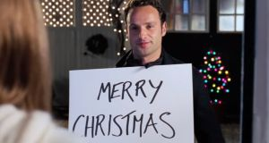 Future zombie hunter Andrew Lincoln sinisterly stalks the impressively durable Keira Knightley in 'Love Actually'