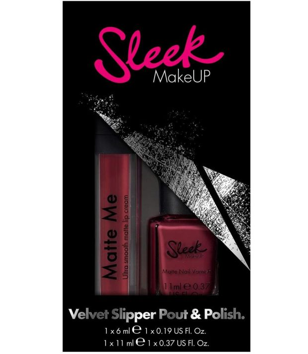Sleek Makeup Velvet Slipper Pout + Polish (Û8 at Boots)