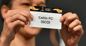 Celtic will play against Valencia in the round of 32 of the Europa League. Photograph: Getty Images