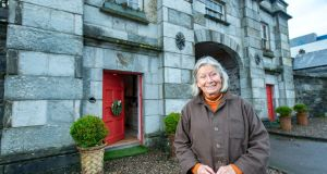 Brigitte Shelswell-White of Bantry House, Co Cork, outside the gate lodge. Photograph: Michael Mac Sweeney/Provision