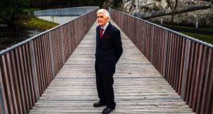 Tom Cavanagh at the opening of the Cavanagh bridge at University College Cork. Photograph: Clare Keogh