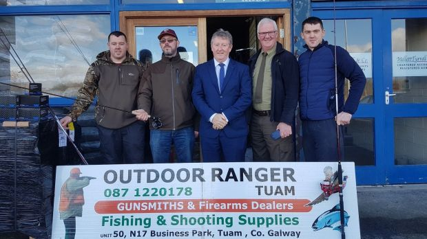 Minister Sean Canney TD with Outdoor Ranger Tuam Programme personnel.