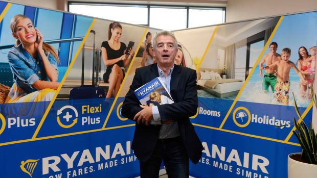 Ryanair's Michael O'Leary: more than 98% of shareholders voted at September's agm to keep him as chief executive. Photograph: Cyril Byrne