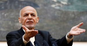Afghan president Ashraf Ghani. Photograph: Mohammad Ismail/File Photo/Reuters