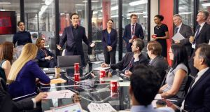 Never fully dressed without a scoop: swaggering tabloid editor Duncan Allen (Ben Chaplin) confronts his troops in the BBC drama 'Press'.