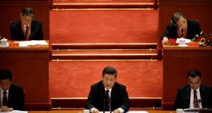 Chinese President Xi Jinping speaks during a conference to commemorate the 40th anniversary of China's Reform and Opening Up policy at the Great Hall of the People in Beijing. Photograph: AP