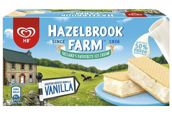 Although once from a dairy in Rathfarnham, Co Dublin, Hazelbrook Farm ice cream is now made in the UK