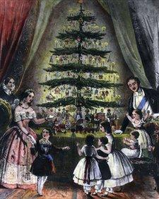 Prince Albert brought the first Christmas tree from Germany to Victoria and the royal household in the 1840s