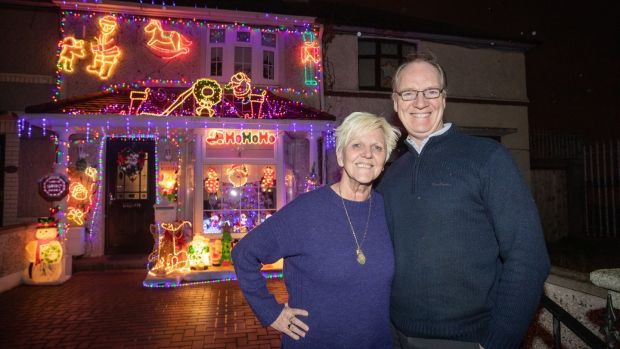 Valerie and James Geraghty outside their house on Clogher Road in Crumlin. Photograph: Bryan James Brophy