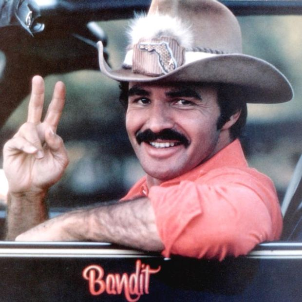 Burt Reynolds in Smokey and the Bandit in 1977. Photograph: Universal Pictures