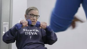 RBG: the US Supreme Court judge works out in a Super Diva sweatshirt