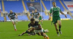 London Irish and Bath in action at the Madejski Stadium. Photograph: Hugh Routledge/Rex/Shutterstock