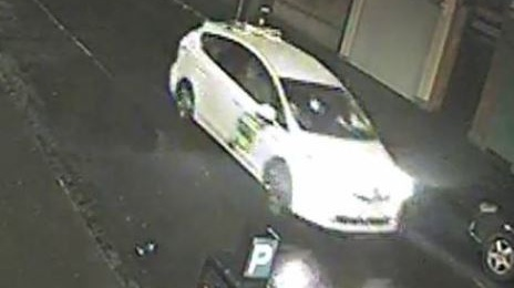 An image of the white taxi released by gardaí.
