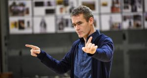 Rufus Norris at a rehearsal of Macbeth in the Royal National Theatre London