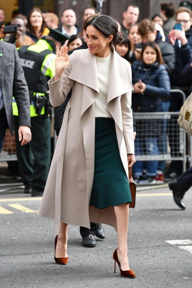 Meghan meeting members of the public in Belfast, in March. Photograph: Pool/Samir Hussein/WireImage