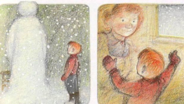 Illustrations from Raymond Briggs's The Snowman
