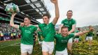 Limerick players celebrate their All-Ireland hurling final victory at Croke Park. Photograph: Tommy Dickson/Inpho