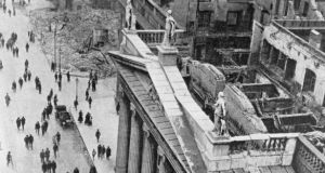 The GPO after the Rising. Photograph:  Getty Images