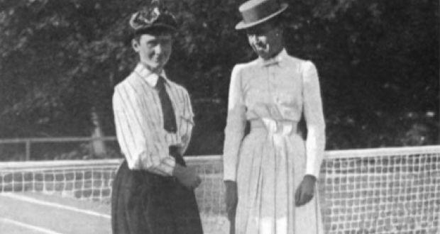 Irish tennis player Mabel Cahill (1863-1905) with US player Emma Leavitt  Fellowes e39f67c5f0c