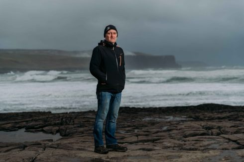 DAMNING REPORT: Bernard Lucas, of the Clare Coast Guard, in Doolin, Co Clare, photographed after the publication of a damning Marine Casualty Investigation Board report into the death of his wife Caitriona Lucas (41) in September 2016. The mother-of-two became the first Irish Coast Guard member to die on duty when she drowned in a rigid inflatable boat capsize during a search for a missing man. Photograph: Eamon Ward/The Irish Times