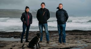 Clare Coast Guard Members Lorraine Lynch, Bernard Lucas and Gary Kiely in Doolin, Co Clare. Photograph: Eamon Ward