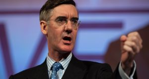 "Jacob Rees-Mogg: ""She won the vote, and therefore I have to accept the result of a democratic vote – similar to what I've been saying about the referendum.""   Photograph: EPA/Will Oliver"
