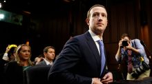 Facebook boss Mark Zuckerberg admits its users have been victims in the Cambridge Analytica controversy. Photograph: Tom Brenner/ The New York Times