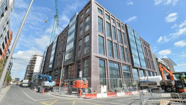 The Host Student Accommodation under construction in Dublin's Docklands. Photograph: Alan Betson