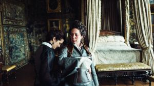 Rachel Weisz and Olivia Coleman in The Favourite