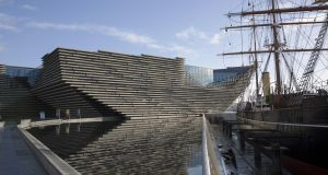 The V&A in Dundee which was designed  by Japanese architect, Kengo Kuma. Photograph:  Getty Images