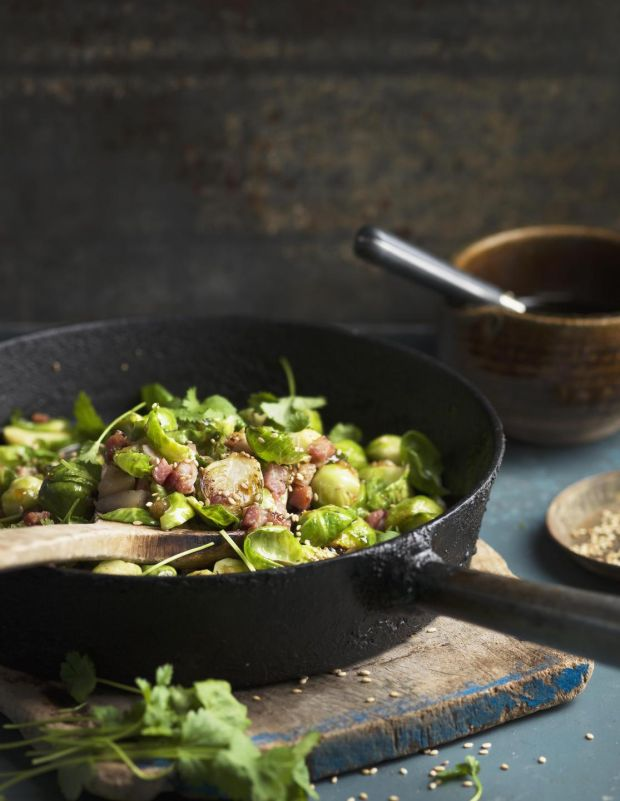 Brussells sprouts should be served with bacon and chestnuts, and never over-cooked. Photograh: Getty Images