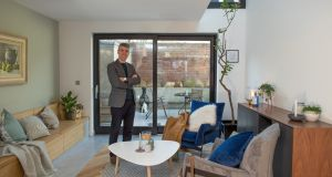 Mícheál de Síun of de Siún Architects in the Dublin 8 home he designed for Clare Stassen.