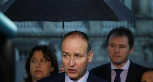 Fianna Fáil leader Micheál Martin following the renewal of the confidence-and-supply arrangement between his party and Fine Gael. Photograph: Nick Bradshaw