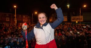 Women's world boxing champion Kellie Harrington:  So many different paths have been taken by each of the monthly award winners. Photograph:  Tom Honan.