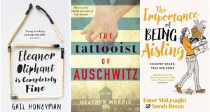 Eleanor Oliphant Is Completely Fine, The Tattooist of Auschwitz and The Importance of Being Aisling, three of the bestselling books of the year in Ireland