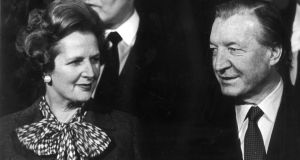 "British prime minister Margaret Thatcher and taoiseach Charles Haughey: ""How Margaret  and the others do not see through him is beyond me,"" Tory MP Ivor Stanbrook is reported as saying. Photograph: Colman Doyle"