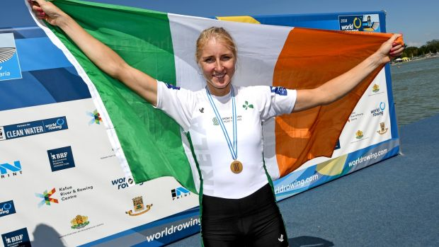 Ireland's Sanita Puspure became world champion this year. Photograph: Detlev Seyb/Inpho