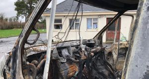 The scene at the house in Strokestown, Co Roscommon which was the centre of an eviction.  Photograph: Peter Murtagh