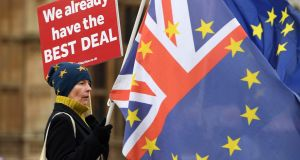 A no-deal Brexit is still not inevitable, given the fact that a majority of British MPs want to avoid it, but with every day that passes the prospect of the worst happening becomes ever more likely as there does not appear to be any other option that commands majority support in the House of Commons. Photograph: Andy Rain/EPA
