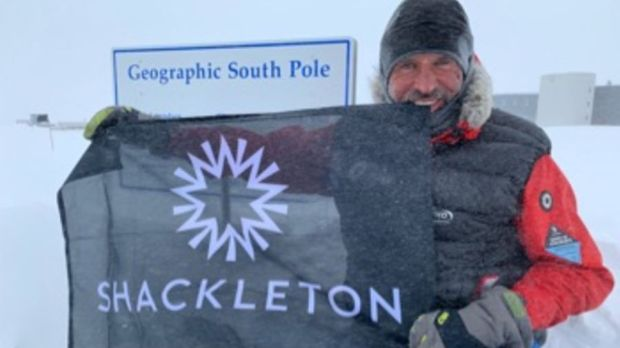 Louis Rudd at the South Pole.