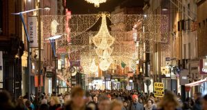 'That first glimpse of Grafton Street with a sea of lights twinkling above your head...' Photograph: Tom Honan/The Irish Times