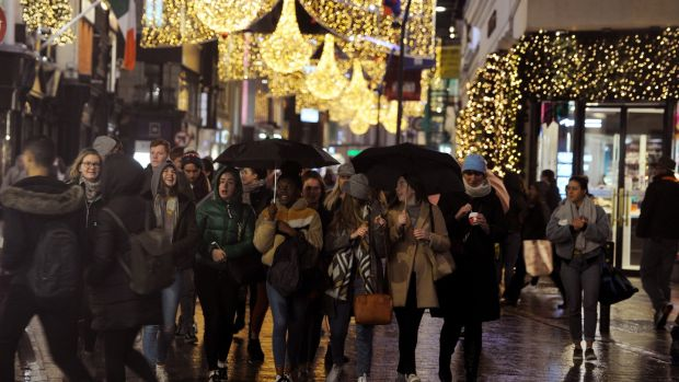 'That first glimpse of Grafton Street with a sea of lights twinkling above your head...' Photograph: Aidan Crawley/The Irish Times