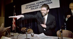 Sinn Féin president Gerry Adams reaches out for a supporter's hand at a conference in New York in 1994. Photograph: Hai Do/AFP/Getty Images
