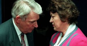 "Garda commissioner Patrick Culligan with then minister Nora Owen in 1996. The commissioner knew many of those killed in the 1994 crash and ""valued their advice and co-operation in counteracting terrorism and crime at every level"". File photograph: Paddy Whelan"