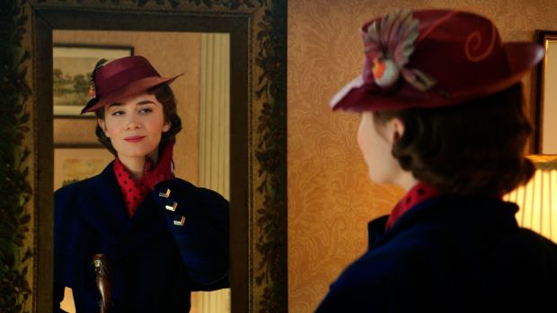 Let's go fly a kite: Emily Blunt as Mary Poppins in Disney's 'Mary Poppins Returns', the last big cinema release of 2018.